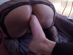 Ass footplay foot insertion