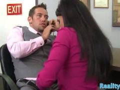 Gorgeous milf fucked after bj at the office