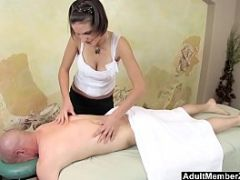 AMZ - Busty Teen&#039_s Massage Gets His Cock Rock Hard