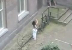 young russian fucked in the street