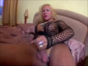 Mature trannies jerking off