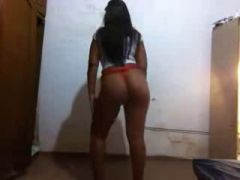 Girl Slut dancing wearing a hot thong