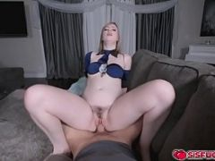 Dolly rides on stepbro&#039_s cock