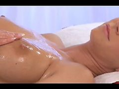 Oily clitoris massage before a squirmin