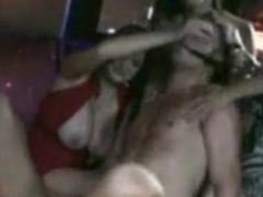 Sensuous group sex inside the night club