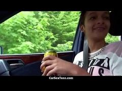 Car sex teen hitchhiker hardcore pounded 3