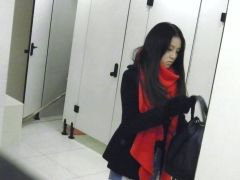 This handsome japanese girl is ing in the toilet