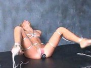 Blonde Cadence bondage and pussyplugged