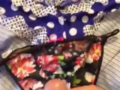 guy cums all over girlfriend's panties