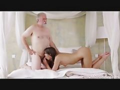 Young Kira Sucked Old Dude\'s Cock