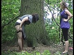 Hot girls pissing in the woods