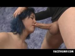 Dyed Blue Hair Kimberly Face Fucked