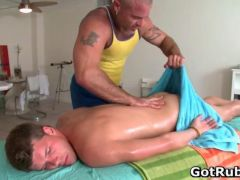 Sexy guy gets oiled up and prepped for segment