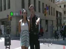 Hottie paraded nacked and fucked outside