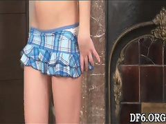 Young virgin undressing -5