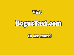 Clitpierced eurobabe screwed on taxi backseat