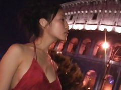 Asian Teen in Red dress Pure non - nude