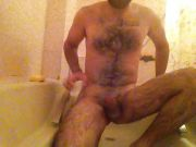 in the bath