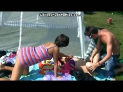 Titted Student Fucked On A Picnic