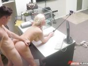 Selfie stick fucking with horny blonde beauty Alena Croft