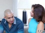 Attractive cock-riding session