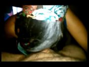 Ebony Gf With Glasses Blow And Swallow