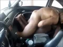 Black BBW Getting Rammed in the Car