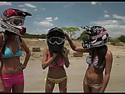 Topless Motocross Racers!