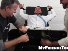 Hairy Ricky and his friend tickles bearded KCs feet