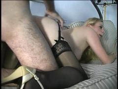 Cocksucker works the hard dick in close up