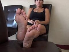 Frightened Woman Soles Feet