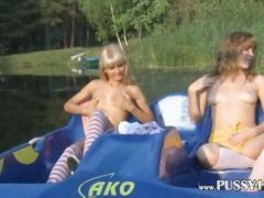 Eva and loly naked by the river movie