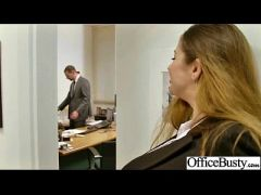 Horny Girl  With Big Juggs Banged In Office vid-05