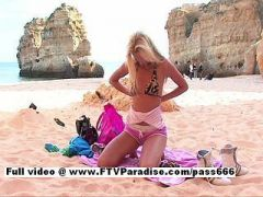FTV girl Suzanna, gorgeous blonde naked girl on the beach