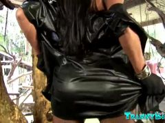 Tranny Domme Jennifer Satine In Solo Action