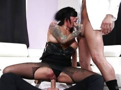 Lily Lane getting double penetrated
