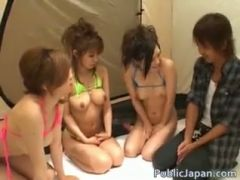 Japanese group orgy