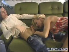 Blonde mom loves the feel of young dick inside her