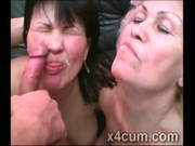 Filthy Cougars get their face creamed up in freaky facial compilation