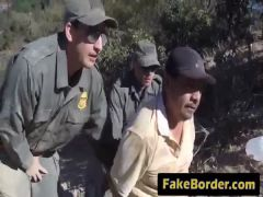 Car fuck with a border agent