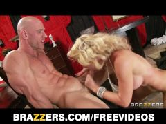 Brazzers - Large a-hole blond is drilled coarse