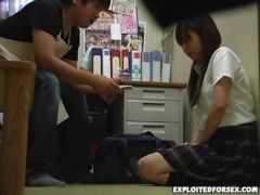 Blackmailed Schoolgirl In Store