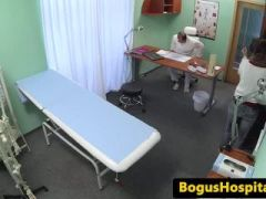 Inked euro patient fingered and pussylicked