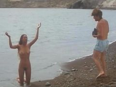 Nude Girl At The Beach