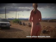 Nude and public sex in a land Motocross