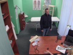 Lucky patient fucks nurse in office
