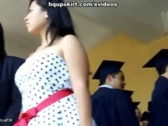 Latin girls flash prom upskirts