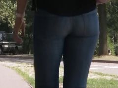 Ass in Jeans Close up