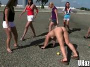 Hazing College Girls are Croquet Wickets