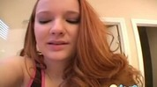 Close up masturbation with cute redhead teen
